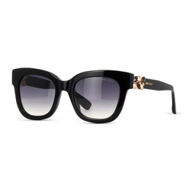 JIMMIE CHOO Black Sunglasses with Gradient Black Lenses