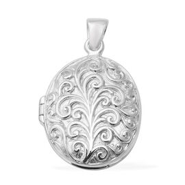 Engraved Locket Pendant in Sterling Silver 9.24 Grams