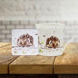 Lesser & Pavey - Country Life Hedgehog Mug and Coaster