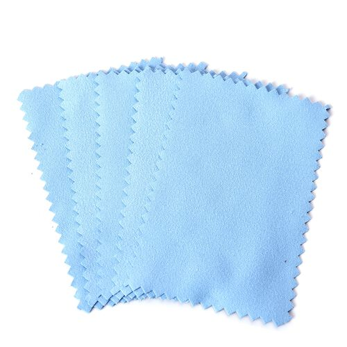 30 Pcs Anti-Tarnish Silver Polishing Cleaning Cloths in Black Pouch (Size 10.8x6.8 Cm) Colour - Coffee, Burgundy, Purple, Light Blue and Mint Green