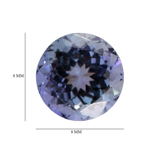 AA Peacock Tanzanite Round 8 Faceted 2.10 Cts