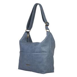 Bulaggi Collection - Puff Hobo Shoulder Bag with Adjustable Strap (Size 34x34x12cm) - Light Blue