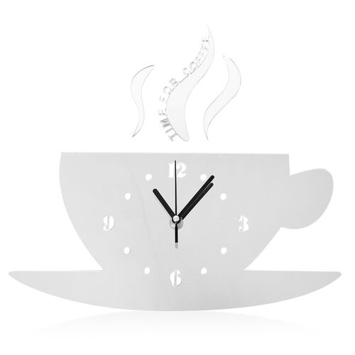 DIY Modern White Cup Design Wall Clock