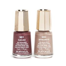 Mavala - Duo Mini Colour - Mykonos 980 and Cacao 981