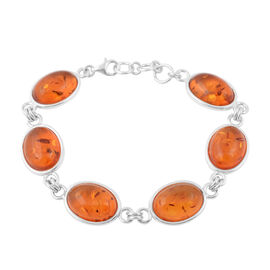 54.90 Ct Baltic Amber Bracelet in Silver 19.52 Grams 7 to 8 Inch