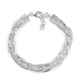Sterling Silver Prince of Wales Bracelet (Size 7.5 with 1 inch Extender), Silver wt. 19.79 Gms