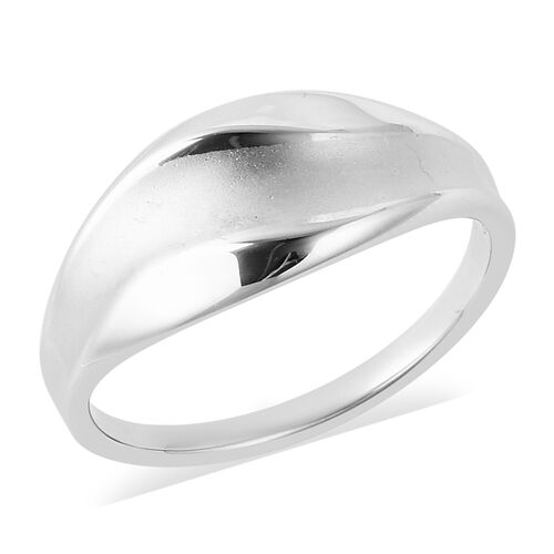 Sandblast Texture Collection RACHEL GALLEY Rhodium Plated Sterling Silver Ring