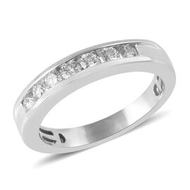 RHAPSODY 0.50 Ct Diamond Eternity Band Ring in 950 Platinum 6 Grams IGI Certified VS EF
