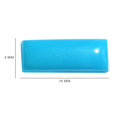SLEEPING BEAUTY TURQUOISE Baguette 10x4 Cabochon 3A 0.710 Cts