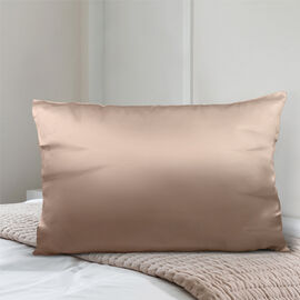SERENITY NIGHT 100% Mulberry Silk Pillowcase Infused with Hyaluronic & Argan Oil in Champagne(Size 75x50 Cm)