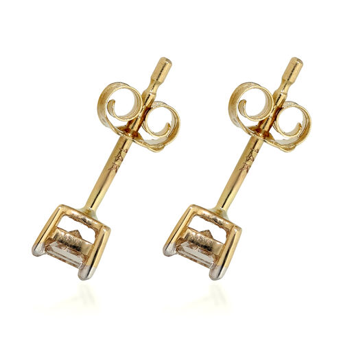 Close Out Deal- 14K Yellow Gold SGL Certified Diamond (I1-I2) Stud Earrings 0.25 Ct.