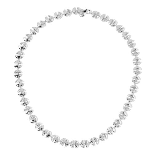 RACHEL GALLEY Eclipse Necklace in Rhodium Plated Silver 35.25 Grams Size 20 Inch