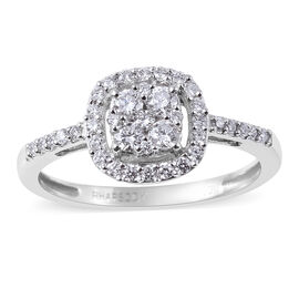 RHAPSODY 0.50 Ct Diamond Cluster Ring in 950 Platinum IGI Certified VS EF