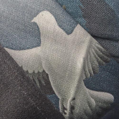 100% Modal Grey and White Colour Digital Print Scarf (Size 200x70)