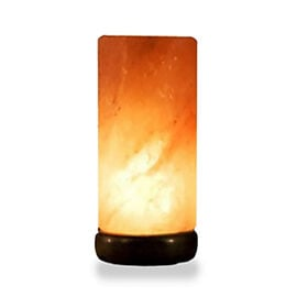 Home Decor - Handcrafted Cylindrical Shaped Salt Lamp (Size 20x10x10 Cm).Wt 3.50 Kilograms