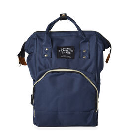 Navy Colour Multi Pocket Backpack with Zipper Closure and Adjustable Shoulder Strap (Size 36x12x27 C