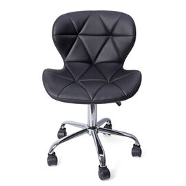 Office Desk Chair with 360 Degree Swivel & Adjustable Height -  (Size W50xH50xL77cm) Black