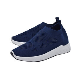NAVY ANKLE FLY KNIT TRAINER