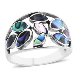 Royal Bali Collection- Abalone Shell Ring in Sterling Silver