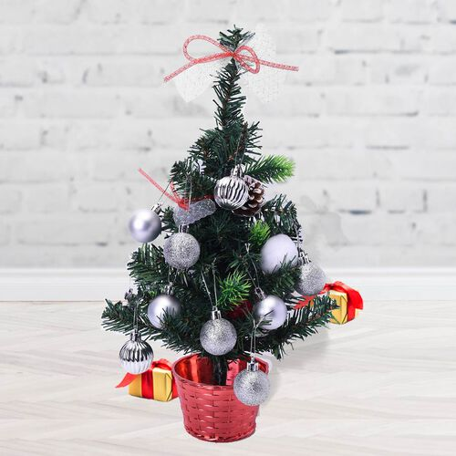 Tree Decoration Ball Set (24 Pcs) - Silver