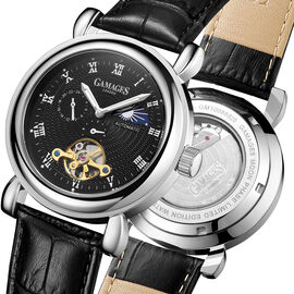 GAMAGES OF LONDON Limited Edition Hand Assembled Moon Phase Automatic Steel