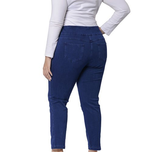 Super Stretch Jeggings with Pockets (Size 12, 45x95cm) - Blue