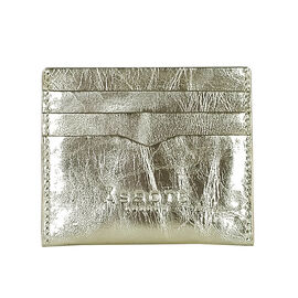 Assots London FANN Metallic Rose Gold leather Compact RFID Credit Card Holder (Size 10x8.5 Cm)