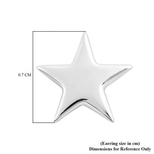 RACHEL GALLEY Rhodium Overlay Sterling Silver Star Stud Earrings (with Push Back)