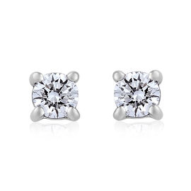RHAPSODY 950 Platinum IGI Certified Diamond (Rnd) (VS/E-F) Stud Earrings (with Screw Back) 0.200 Ct.