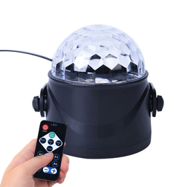 Disco Ball LED Party Light with Remote Control - Black