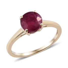 African Ruby (2.00 Ct) 9K Y Gold Ring  2.000  Ct.