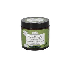 Marigold + Lotus Tea Tree Face and Body Scrub - 3.52 oz