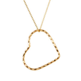 Designer Inspired Heart Pendant with Chain in 9K Gold Size 18 Inch