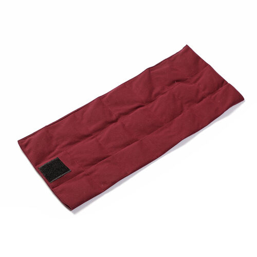Natural Shungite Posture Correction Back Pad with Washable Cover (Size 53x22 Cm) 1.43 lbs - Burgundy