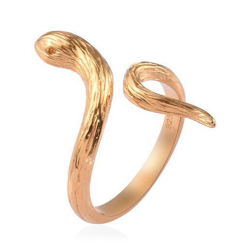 14K Gold Overlay Sterling Silver Serpentine Ring