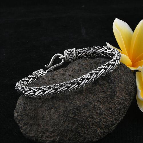 Royal Bali Collection Sterling Silver Tulang Naga Bracelet (Size 8), Silver wt 33.54 Gms.