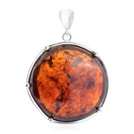 Baltic Amber Pendant in Sterling Silver, Silver wt 21.00 Gms