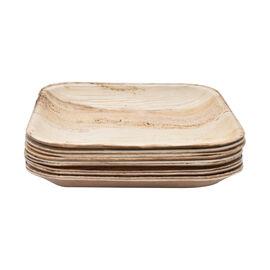 Pack of 10 - Areca Palm Leaf Square Plates  - 6 inchs (15x15cm)