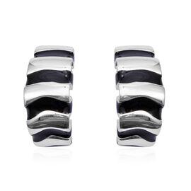 Wheel Design Hoop Earrings in Sterling Silver With Push Back