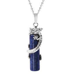 49 Carat Lapis Lazuli Solitaire Pendant with Chain