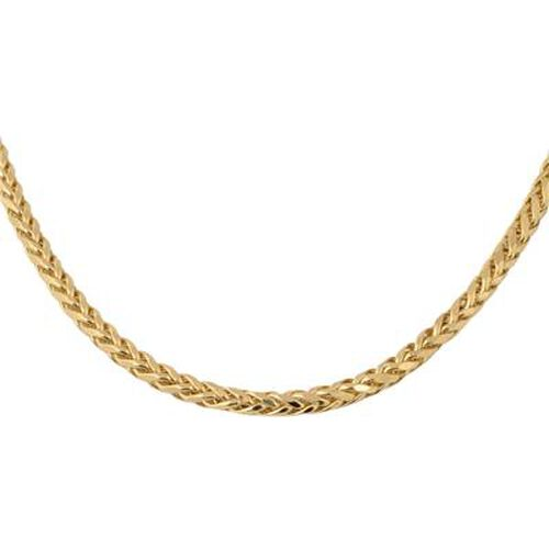 Italian Made 9K Yellow Gold Spiga Necklace (Size 22), Gold Wt. 17.01 Gms