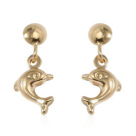 9K Yellow Gold Kids Earrings (with Push Back)