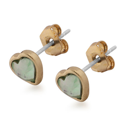 Set of 3 - Stud Earrings (with Push Back) in Gold Tone