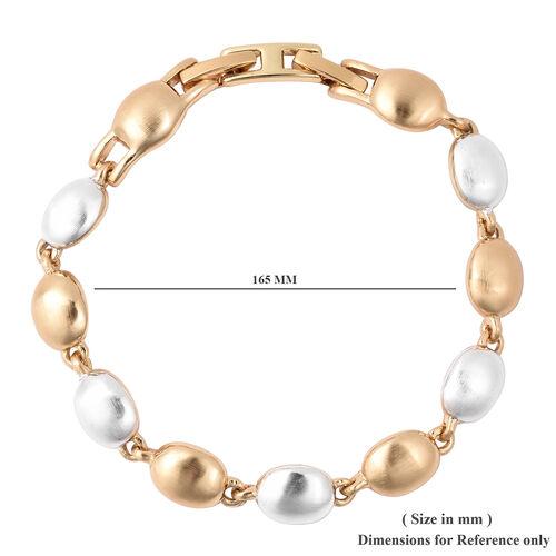 Designer Bracelet (Size 7) in Gold and Silver Tone