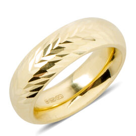Istanbul Treasure Collection- 9K Yellow Gold Diamond Cut Band Ring.Gold Wt 2.55 Gms