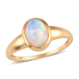 Ethiopian Welo Opal Solitaire Ring in 14K Gold Overlay Sterling Silver 1.00 Ct.