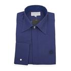 William Hunt Saville Row Forward Point Collar Dark Blue Shirt Size 16