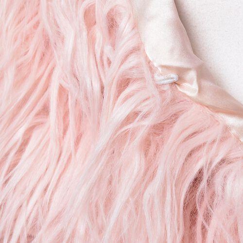 Designer Inspired Super Soft Pink Colour Faux Fur Vest (Size 60X52 Cm)