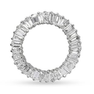 RHAPSODY 950 Platinum IGI Certified Diamond (VS/E-F) Circle Pendant 0.50 Ct.