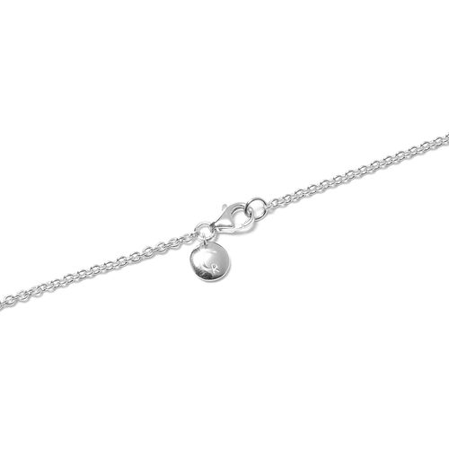 RACHEL GALLEY Sandblast Texture Collection - Rhodium Overlay Sterling Silver Necklace (Size 20), Silver wt 34.68 Gms
